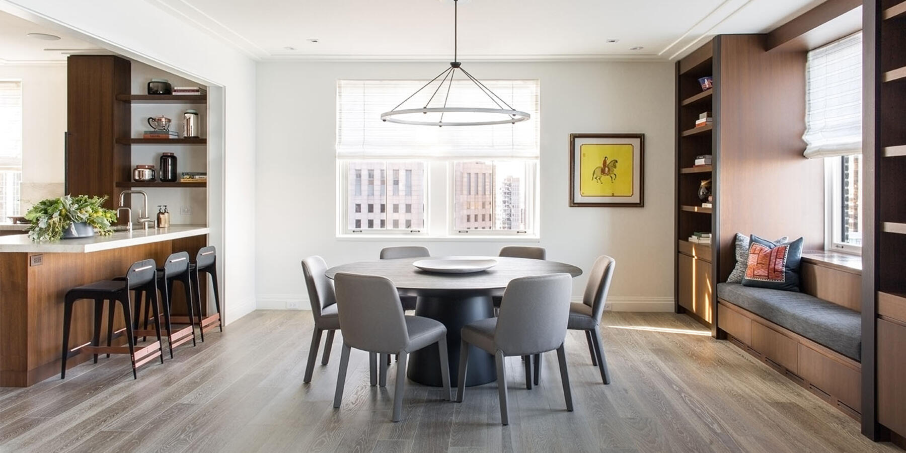Luxury Residential Home Construction - Drake Tower Chicago dining room
