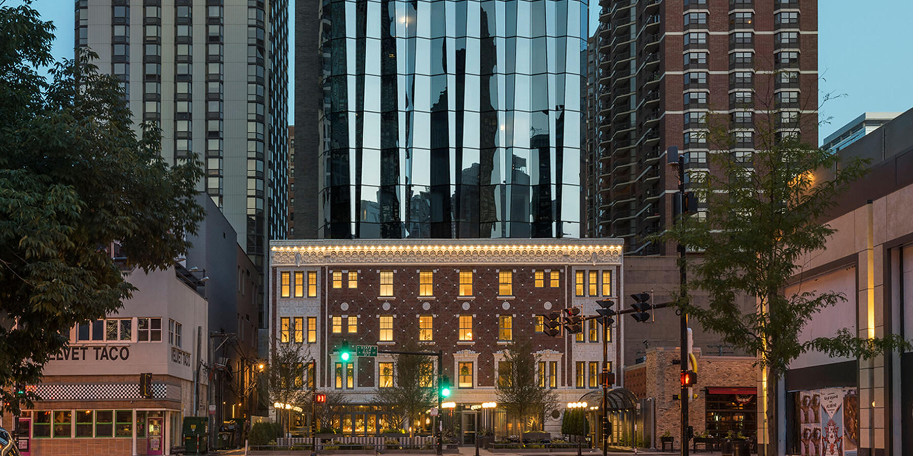 Hotel Construction & Remodeling - Viceroy Hotel Chicago exterior street view