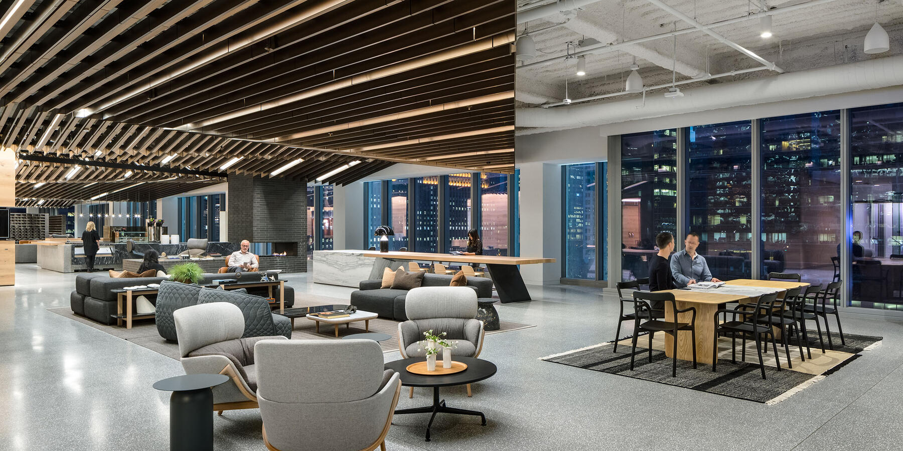 Chicago Office Renovation Project - Hyatt Global HQ reception area