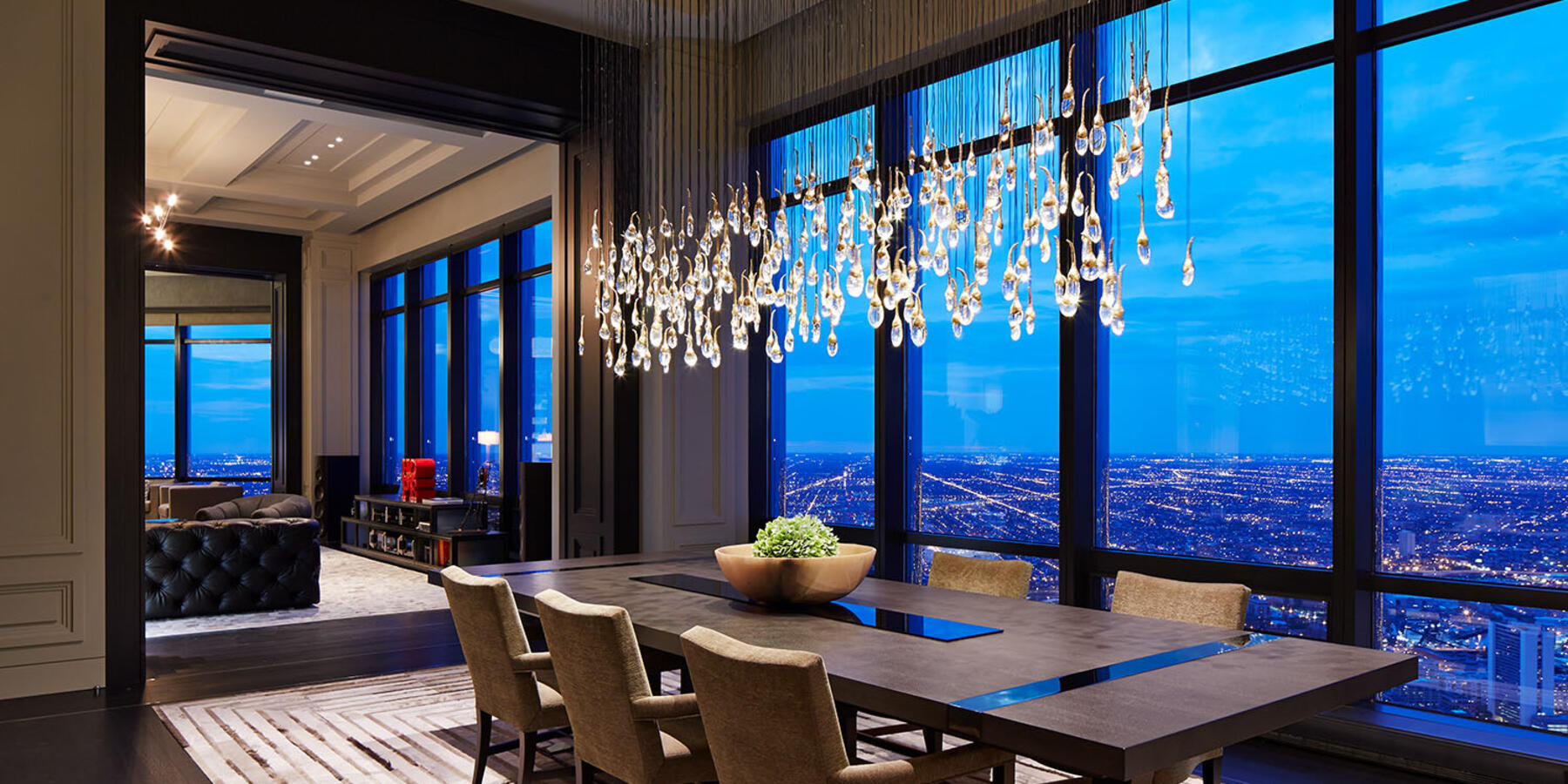 High End Home Builders Chicago - Trump Tower Residences dining room