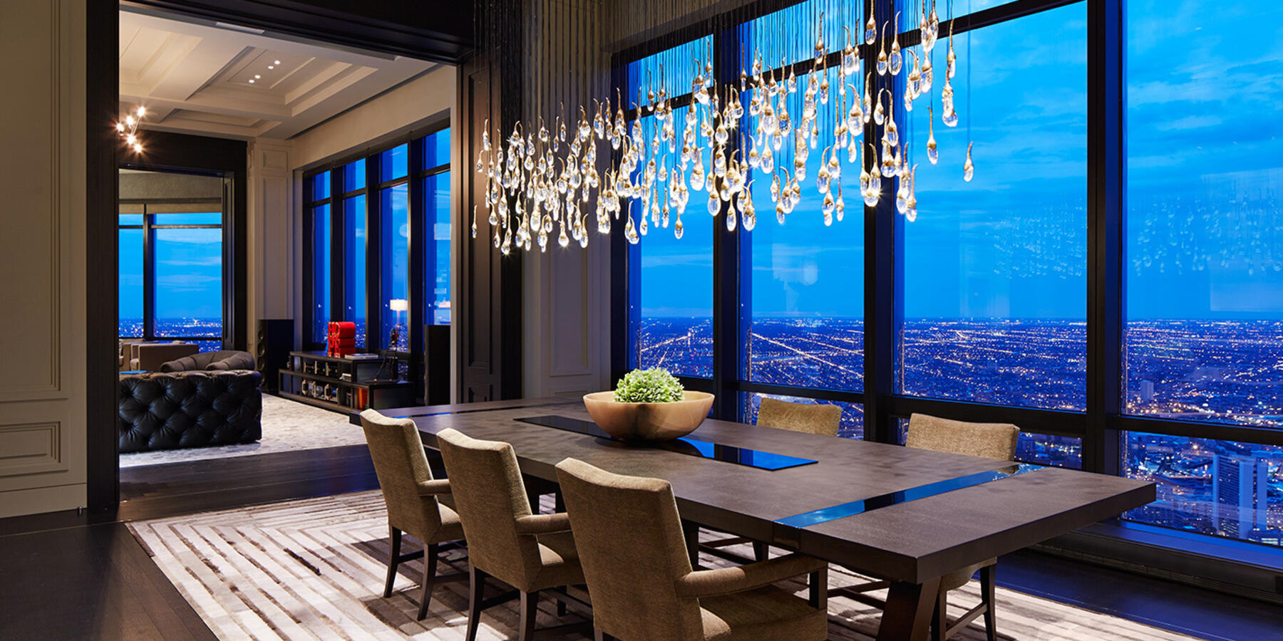 Power Construction Chicago Trump Tower Residence Dining Room