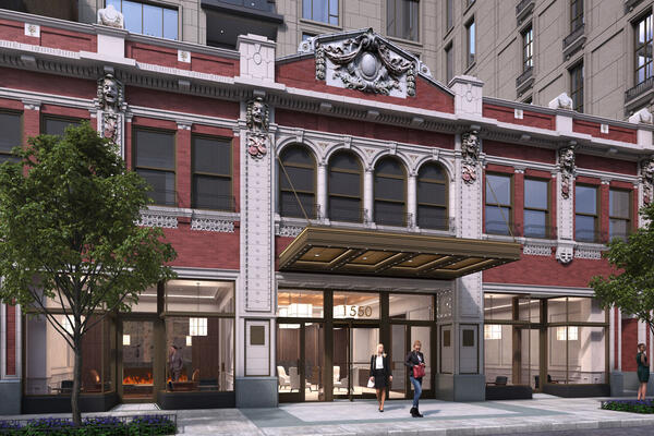 Historic Restoration Condo Construction - Fifteen Fifty on the Park exterior entrance rendering