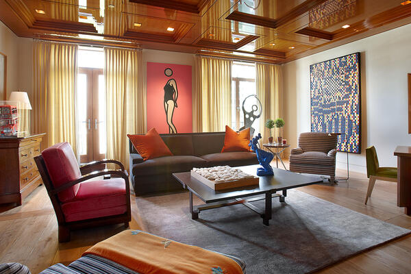 Luxury Home Construction & Renovation - 65 E Goethe Chicago interior living room