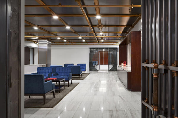 Interior Corporate Construction - CIBC Chicago interior