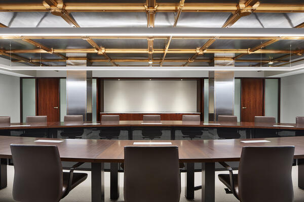 Interior Corporate Construction - CIBC Chicago interior meeting space
