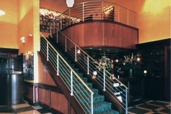 High End Restaurant Construction - Gibson's & Hugo's stairway and mezzanine