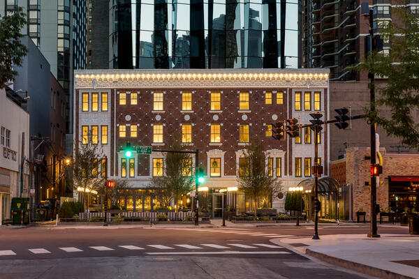 Historic facade restoration of the Viceroy Hotel in Chicago