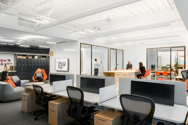 Chicago Office Renovation Project - Hyatt Global HQ collaboration space