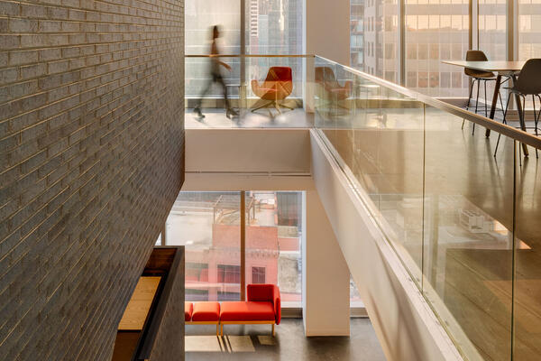 Chicago Office Renovation Project - Hyatt Global HQ open stairwell