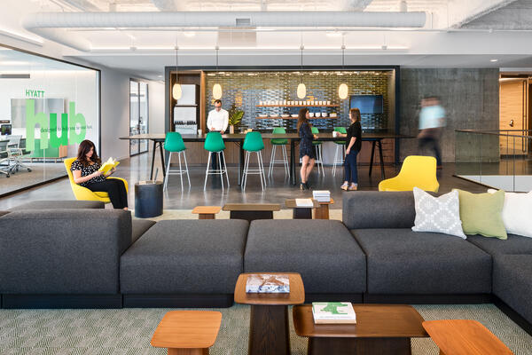 Chicago Office Renovation Project - Hyatt Global HQ coffee bar