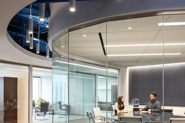 Commercial Contractors Chicago - Methode Electronics conference room