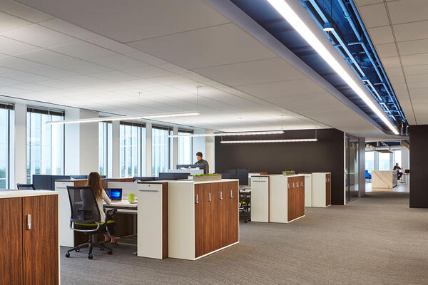 Commercial Contractors Chicago - Methode Electronics open workspace