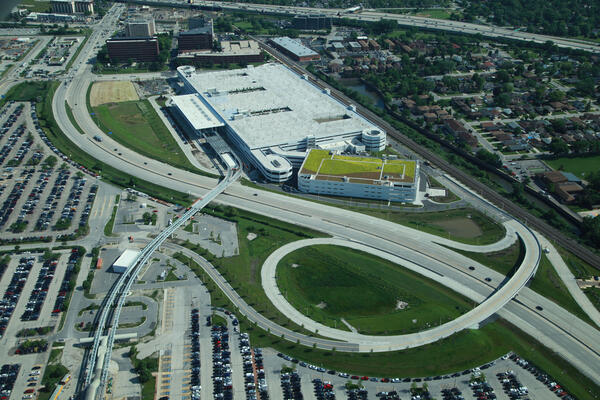 Aviation Commercial Construction - O'Hare Multi-Modal Facility aerial shot