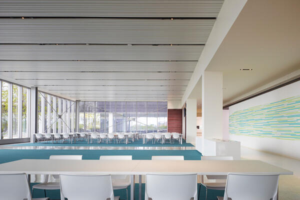 Corporate Office Construction - Panduit World Headquarters cafeteria seating