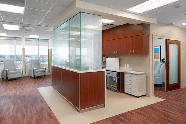Chicago Healthcare Construction - Northwestern Glenview reception