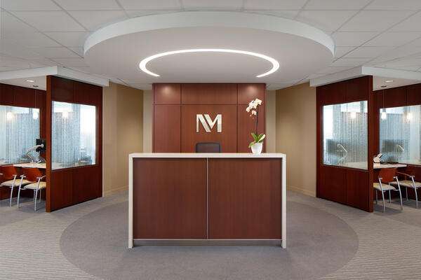 Chicago Healthcare Construction - Northwestern Glenview reception desk