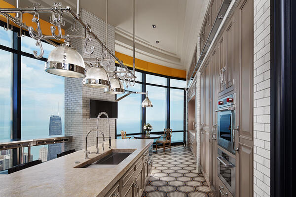 High End Home Builders Chicago - Trump Tower Residences kitchen