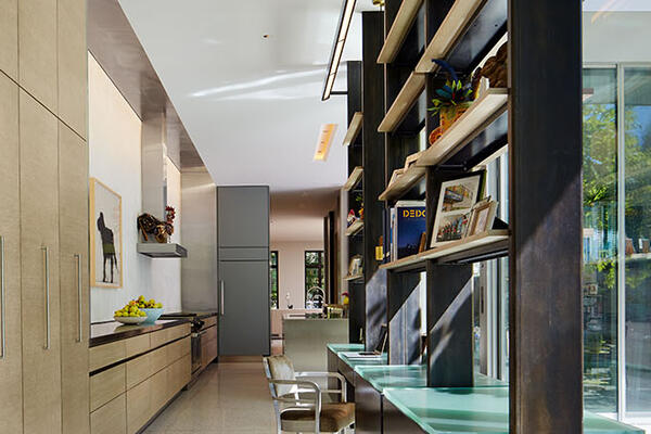 Custom Home Builders Chicago - Wicker Park Residence hallway and built-in shelves