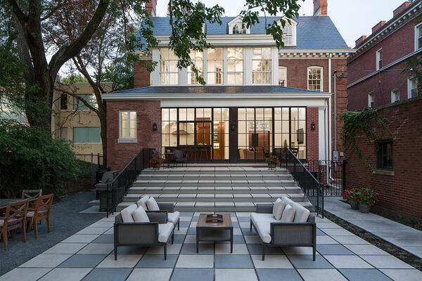 Historic Home Restoration & Renovation - Hyde Park Chicago backyard patio