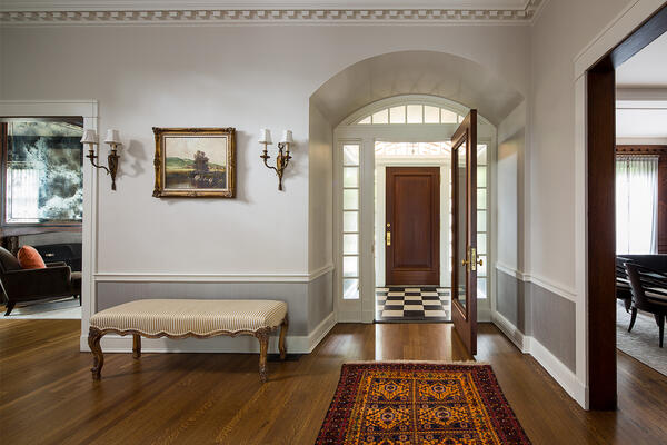 Historic Home Restoration & Renovation - Hyde Park Chicago entrance and foyer