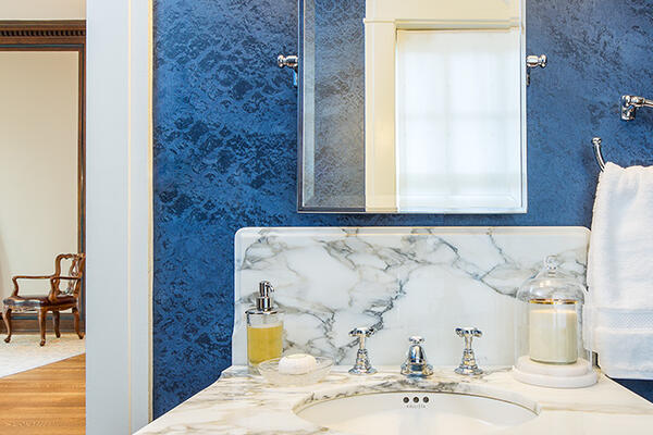 Historic Home Restoration & Renovation - Hyde Park Chicago bathroom vanity detail