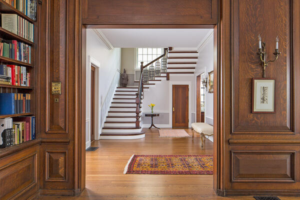 Historic Home Restoration & Renovation - Hyde Park Chicago stairwell