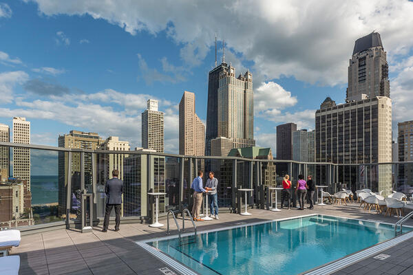 Hotel Construction & Remodeling - Viceroy Hotel Chicago rooftop pool